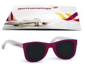 Reklamní sluneční brýle v kartě