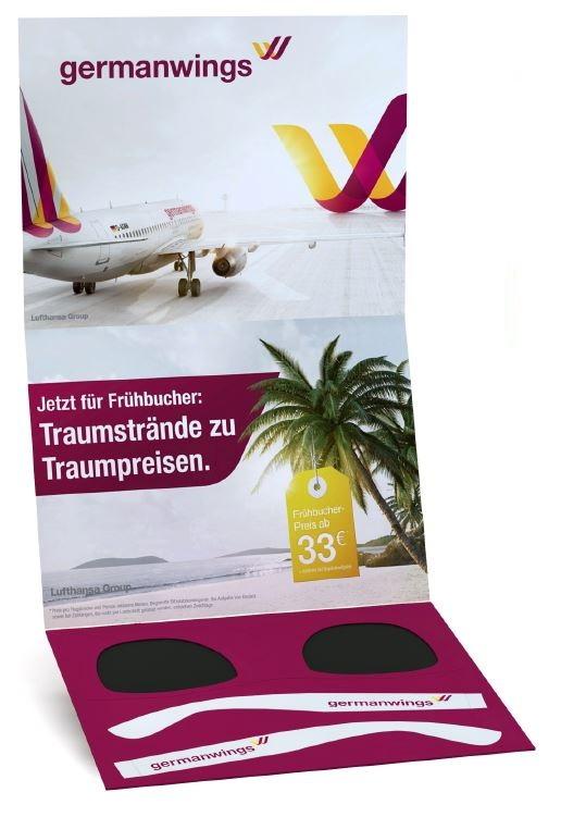 Reklamní skládací papírové sluneční brýle v kartě