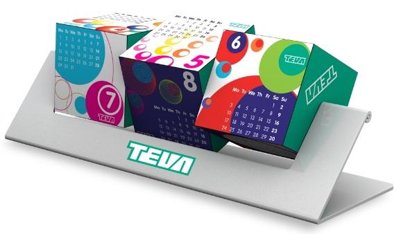 Reklamní kostky otočné - kalendář