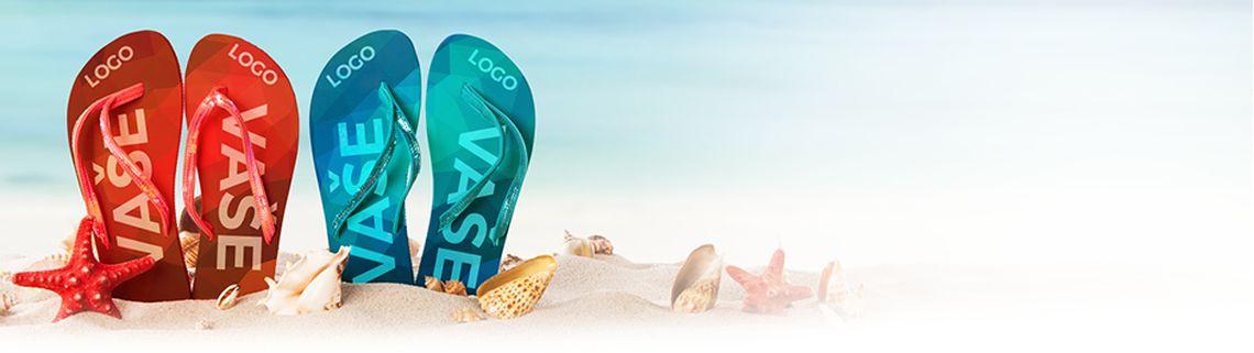 Reklamní plážové žabky - zakázková výroba