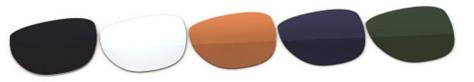Sluneční brýle v kartě - barevnost čoček