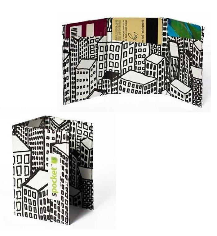 Tenké reklamní peněženky z recyklovaného materiálu