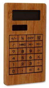 Bambusové reklamní předměty - kalkulačka