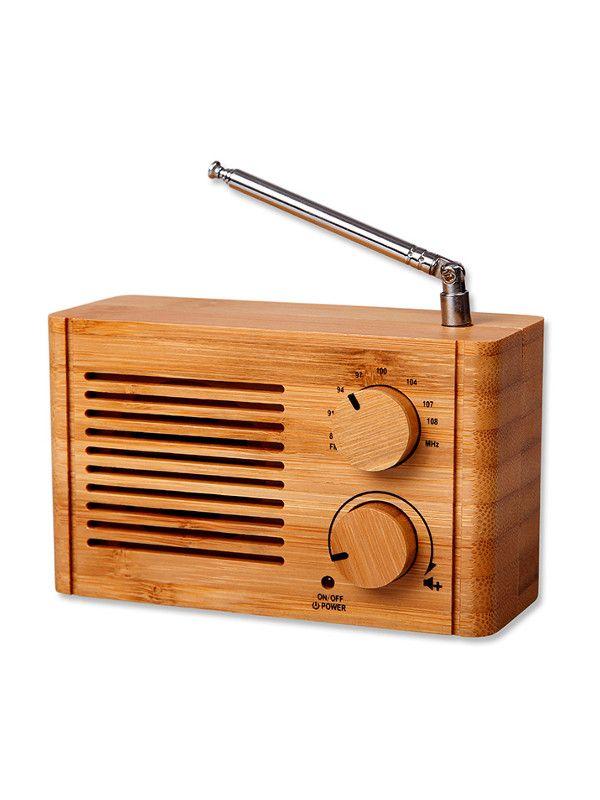 Bambusové reklamní předměty - rádio