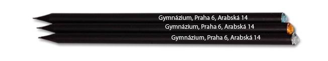 Reklamní černé tužky