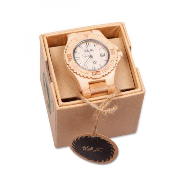 Dřevěné hodinky s brandingem - Silic Média