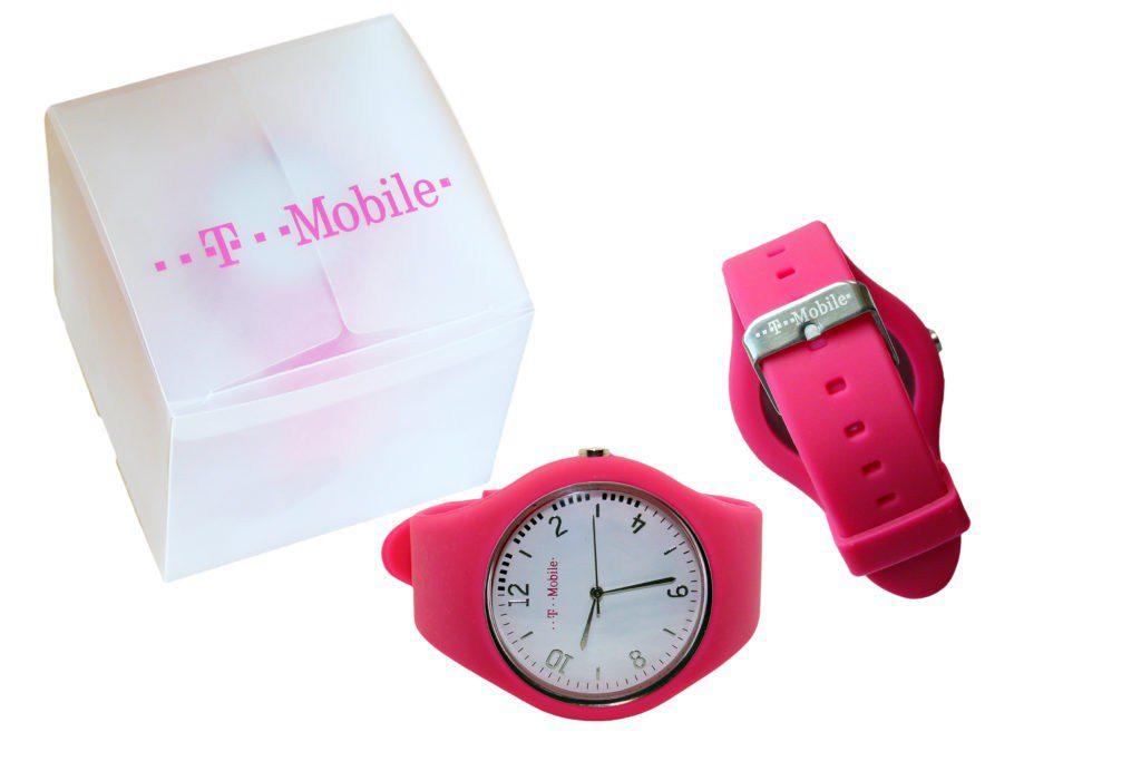 Reklamní silikonove hodinky tmobile