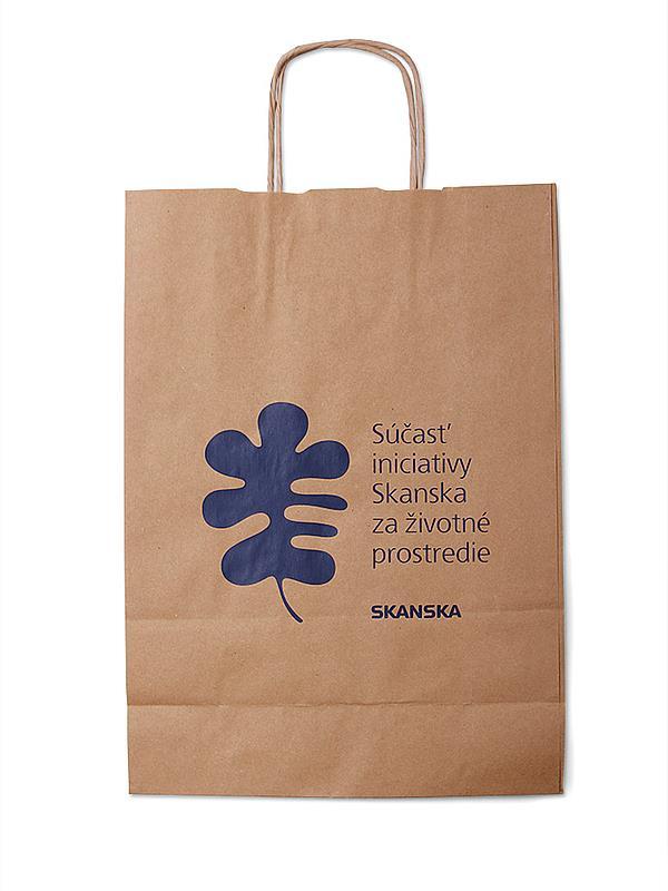 Reklamní papírová taška s potiskem - Skanska