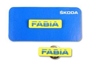 Odznak Fabia žlutý