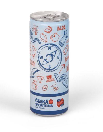 Reklamní energy drink Česká spořitelna