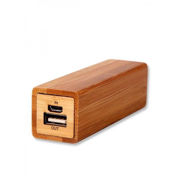 Bambusové reklamní předměty - powerbanka