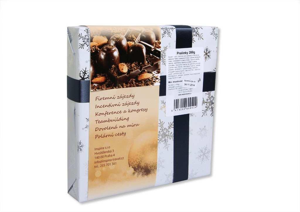 Pralinky ve vánočním balení - rukávek