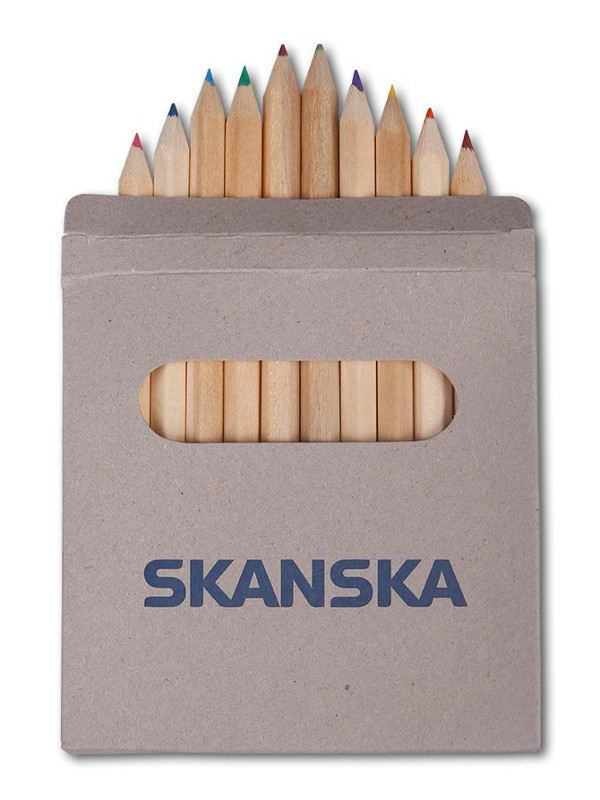 Reklamní pastelky s potiskem - Skanska