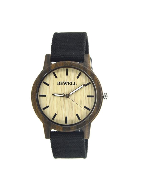Reklamní dřevěné hodinky s látkovým páskem