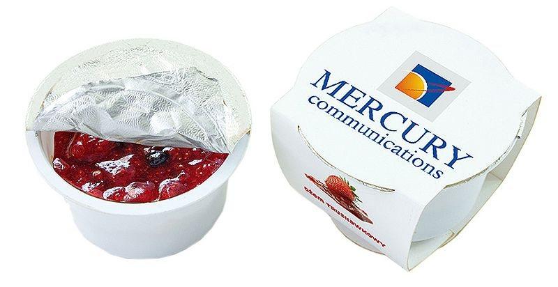 Reklamní marmelády v plastovém kelímku