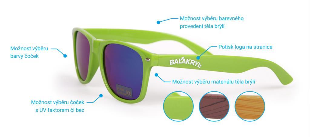 Reklamní sluneční brýle - možnosti zakázkové výroby
