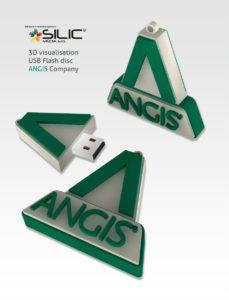 Reklamní USB Angis 3D vizualizace