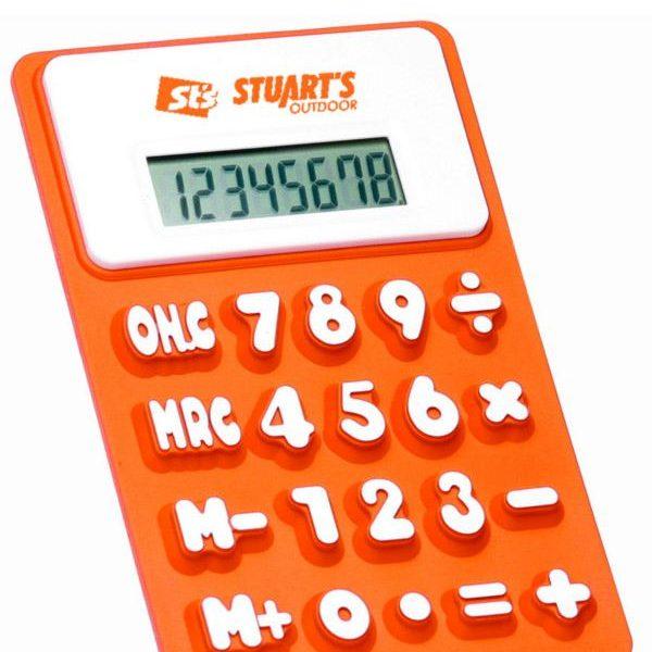 reklamní silikonová kalkulačka