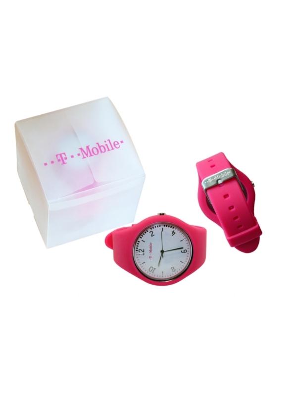Reklamní silikonové hodinky T-Mobile
