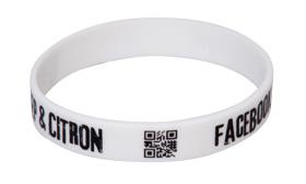 Reklamní silikonové náramky s QR kódem