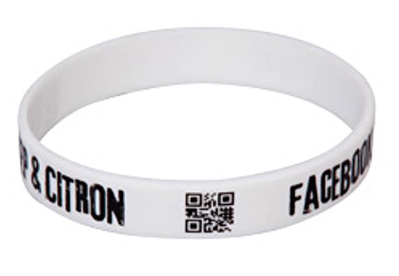 Silikonové náramky - deboss potisk - QR kód