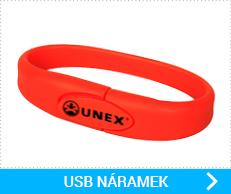 USB silikonové náramky