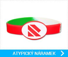 Silikonové náramky v atypickém tvaru