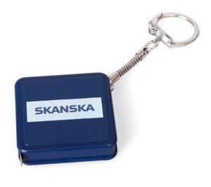 Reklamní svinovací metr - přívěsek na klíče - potisk - Skanska