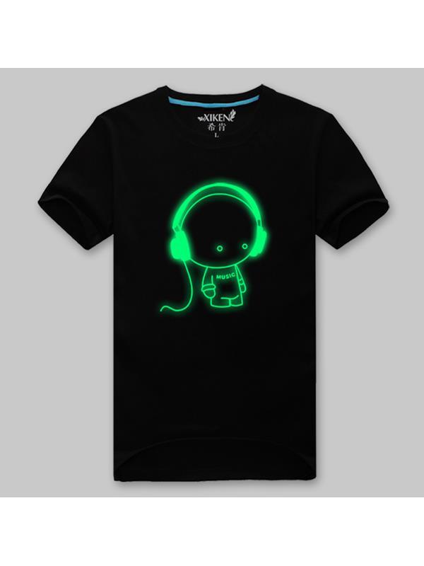 Reklamní tričko se svítícím potiskem
