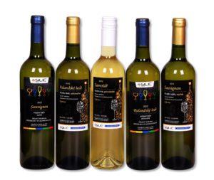 Reklamní víno skupinka