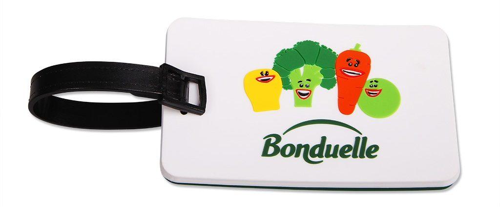 Reklamní visačka na kufr bonduelle