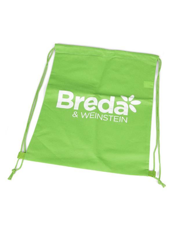 Reklamní vak na záda s potiskem - Breda - zelený