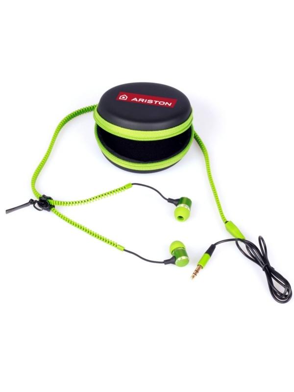 Propagační zipová sluchátka