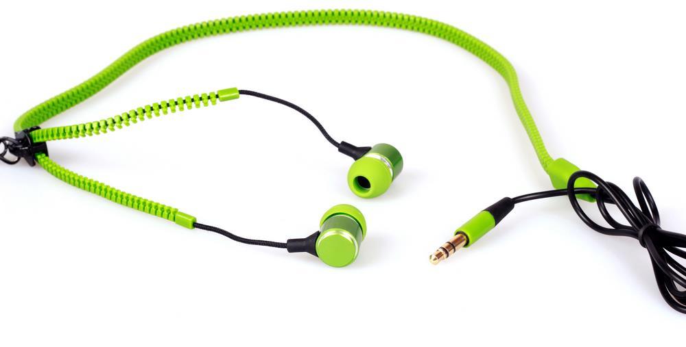 Reklamní zipová sluchátka
