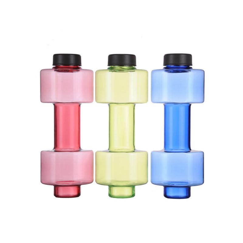 Reklamní láhev na vodu ve tvaru činky - 2v1