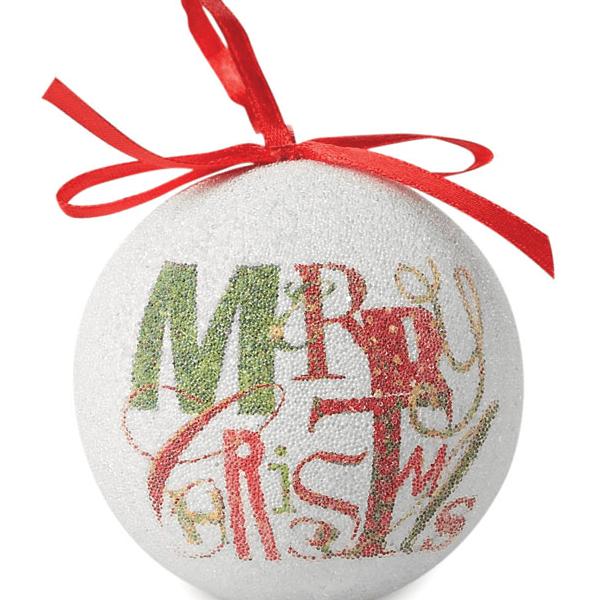 Reklamní Vánoční koule BLANCA 1