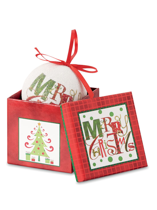 Reklamní Vánoční koule BLANCA 3