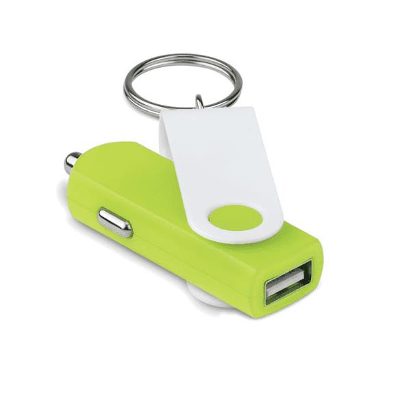 Reklamní USB adaptér do auta TECHRING zelený