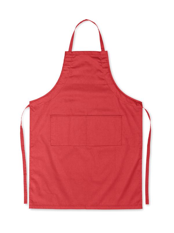 Reklamní Kuchyňská zástěra FITTED KITAB červená