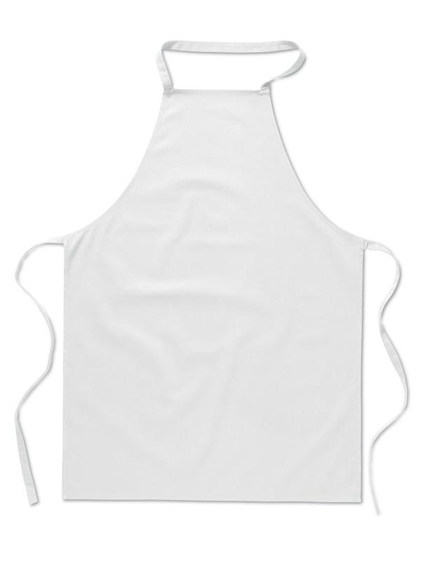 Reklamní Kuchyňská zástěra KITAB bílá