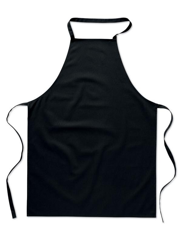 Reklamní Kuchyňská zástěra KITAB černá