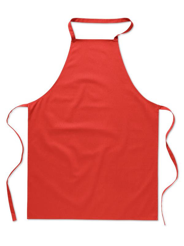 Reklamní Kuchyňská zástěra KITAB červená