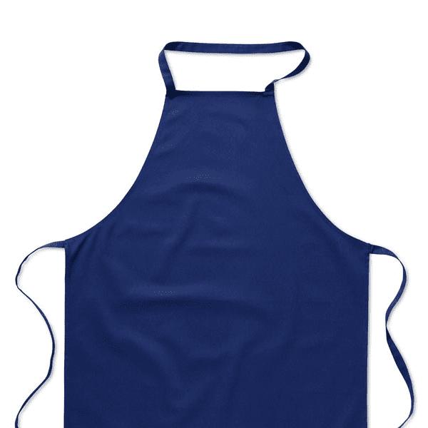 Reklamní Kuchyňská zástěra KITAB modrá