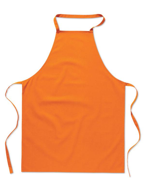 Reklamní Kuchyňská zástěra KITAB oranžová