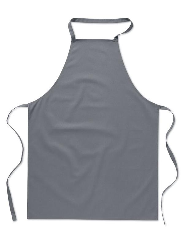 Reklamní Kuchyňská zástěra KITAB šedá