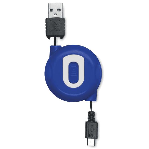Reklamní Navíjecí kabel COMPACTMICRO modrá