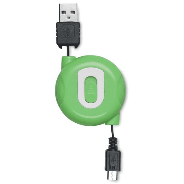 Reklamní kabel COMPACTMICRO zelená