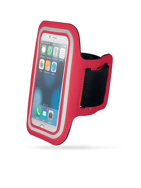 Reklamní Neoprenové pouzdro na ruku ARMPHONE červená