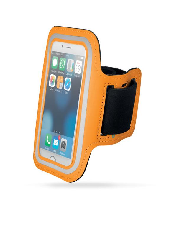 Reklamní Neoprenové pouzdro na ruku ARMPHONE oranžová