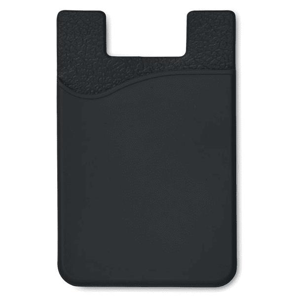Reklamní silikonové pouzdro na karty SILICARD černé